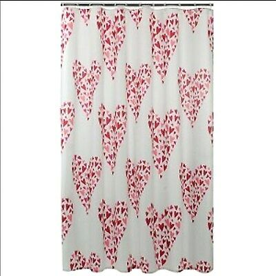 FABRIC - Kohls - Happy Valentines Day Hearts in Hearts SHOWER CURTAIN
