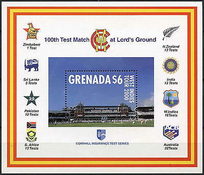 Grenada 2000 SG#MS4033 West Indies Cricket Tour MNH M/S #A87810