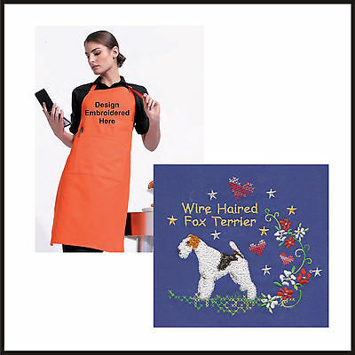 Wire Haired Fox Terrier Apron Embroidered by Dogmania