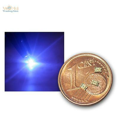 50 SMD LEDs 0805 Blau, blaue SMDs blue bleu azul azzurro SMT mini LED bleue