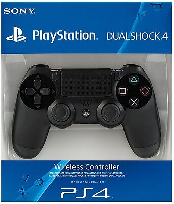 PS4 DualShock 4 Controller Black BRAND NEW SEALED OFFICIAL PAL