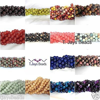 Semi Precious Gemstone Rounds Beads for Jewellery Making - 10mm (37-40 beads)