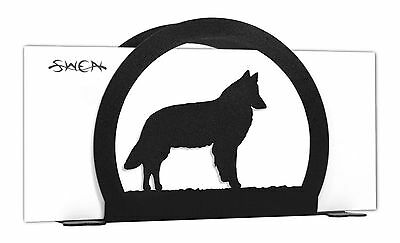 SWEN Products BELGIAN SHEEPDOG Black Metal Letter Napkin Card Holder