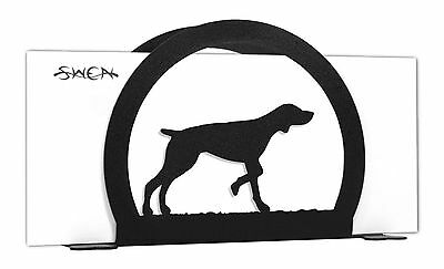SWEN Products GERMAN SHORT HAIR Dog Black Metal Letter Napkin Card Holder