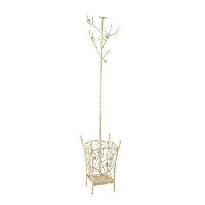 Southern Enterprises Bird and Branch Antique White Hall Tree - HE7222R