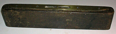 Antique / Vintage English Brass & Oak Wood Spirit Level J Rabone & Sons England