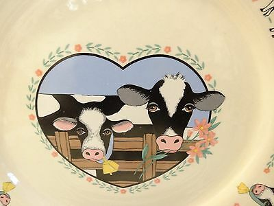 Tienshan Stoneware BUTTERCUP (Cows)  Dinner Plates DISCONTINUED