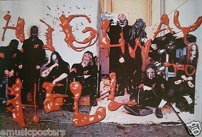 "SLIPKNOT ""HIGHWAY TO HELL"" POSTER FROM ASIA- Rapcore Metal Music"