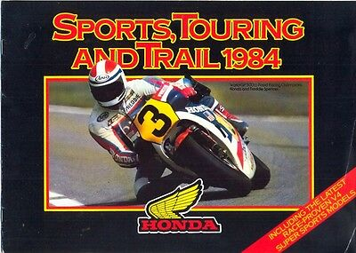 Honda Sports Touring & Trail 1984 UK market sales brochure
