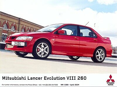 Mitsubishi Lancer Evolution VIII 260 2004 original press photo