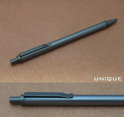 Unique Unmarked Metal 0.5mm Mechanical Pencil Gun Metal Rotring Style Mint Boxed
