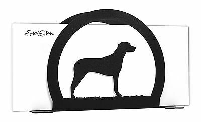 SWEN Products RHODESIAN RIDGEBACK Dog Black Metal Letter Napkin Card Holder