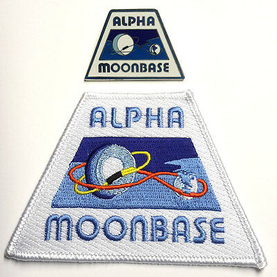 Space:1999 Alpha Moonbase Patch & Pin Set of 2- FREE S&H (SPPAPA-Set-2)