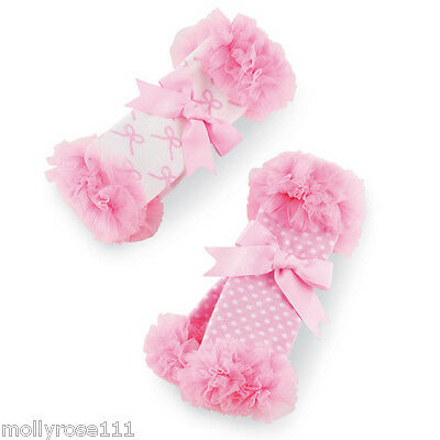 Baby Girl Set Of 2 Mud Pie Tiny Dancer Chiffon Ballerina Leg Warmers Socks