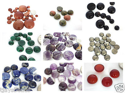 1 x Gemstone Round/Coin Cabochon for Jewellery Making
