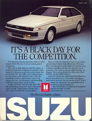 Isuzu Impulse Turbo RS - Piazza  -  USA sales item