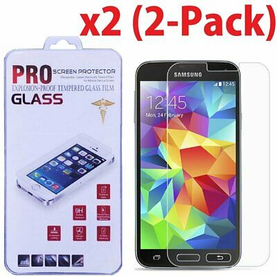 2X  Premium Real Tempered Glass Screen Protector for Samsung Galaxy S5