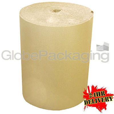 500mm x 75m CORRUGATED CARDBOARD PAPER ROLL 75 METRES - STRONG PACKAGING *24HRS*