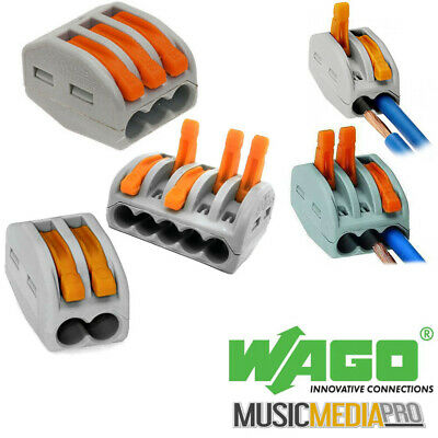 WAGO -spring lever push fit reuseable cable 2 wire 3 wire 5 wire connectors 32A