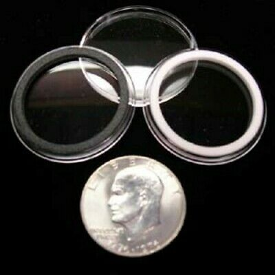 5 AIRTITE COIN HOLDER CAPSULE BLACK RING 37 MM