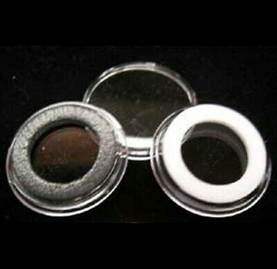 25 Airtite Coin Holder Capsule White Ring 28 Mm