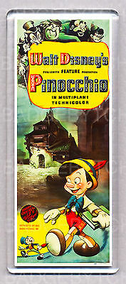 PINOCCHIO movie poster LARGE FRIDGE MAGNET - CLASSIC!