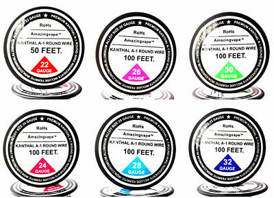 Mixed 550 Feet of 22,24,26,28,30,32Gauge AWG kanthal a1 resistance wire.