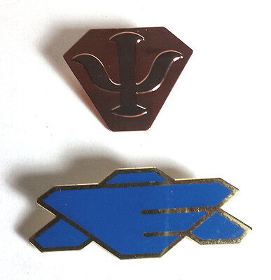 Full Size Earth Alliance & Psi Corp Babylon 5 TV Show Costume Pin Set of 2