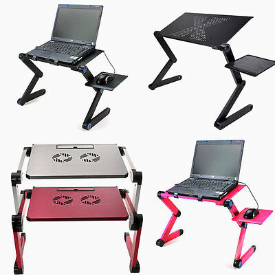 Portable Folding Laptop Computer Notebook Table Stand Desk Bed Sofa Tray Alu Hot