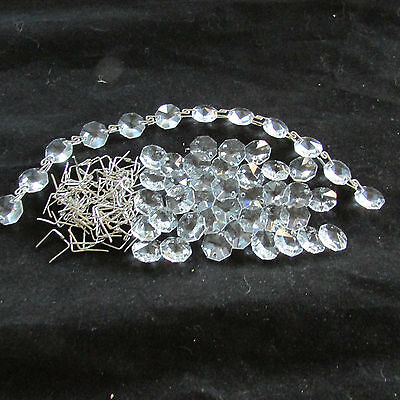 15 Ft. Diy Antque Style Chain 30% Lead Crystal Silver  Chandelier Part Wedding