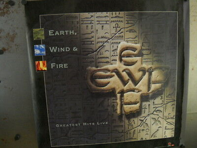 EARTH WIND & FIRE Large 1996 Promo Poster GREATEST HITS LIVE Super Mint Cond.