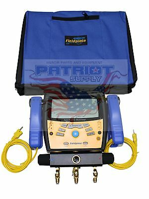 NEW!! FIELDPIECE SMAN360 3-Port Digital Manifold w/ Micron Gauge REPLACES SMAN3