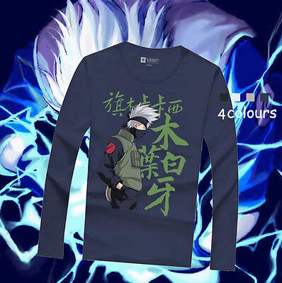 JP Anime Naruto Kakashi Casual Unisex T-shirt Tee Casual Clothing More Colours
