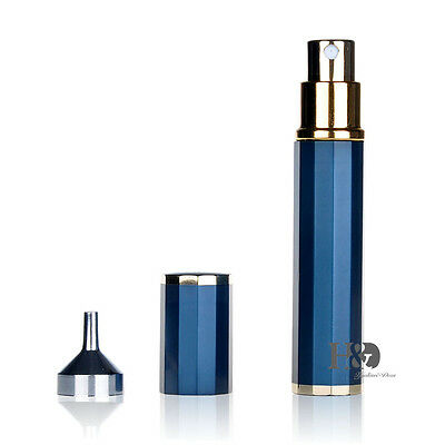 TOP Royal Metal Glass Empty Refillable Perfume Bottle Spray Atomizer Travel Gift