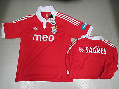 Maglia Benfica Lissabon Home 12/13 Orig Adidas tg. S M L XL nuovo