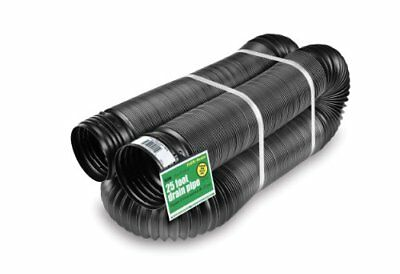 Flex-Drain 51110 Flexible/Expandable Landscaping Drain Pipe, Solid, 4-Inch by