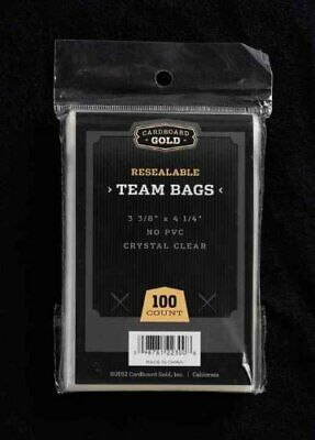 CBG 1000 ct Resealable Sports Card Team Set Bags Cardboard Gold FREE SHIPPING