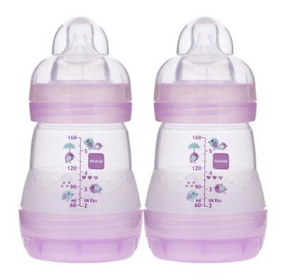 MAM Anti-Colic Bottle, Girl, 5 Ounces, 2-Count New
