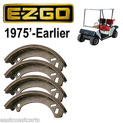 EZGO Marathon Golf Cart 1975' & Older Rear Brake Shoes (set  4) 13455-G1