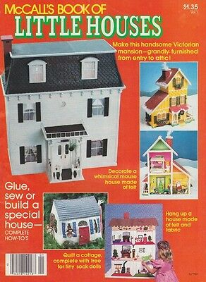 McCalls Book of Little Houses Doll House Pattern Miniature