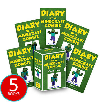 Diary of a Minecraft Zombie Book Vol 1-5 Collection 5 Books Set PRE ORDER NEW