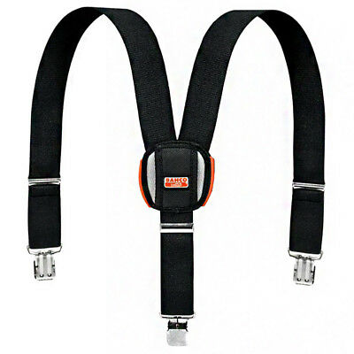 Bahco Padded Adjustable Work Trousers Braces With Heavy Duty Clips