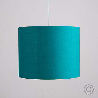Contemporary 25cm Ceiling Light Pendant Shade Teal Drum Lampshade Home Lighting