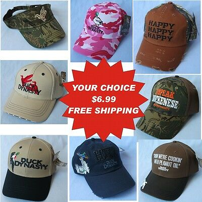 Duck Dynasty A&e Embroidered Hat Cap 8 To Choose Closeout $6.99 Free Ship Bnwt