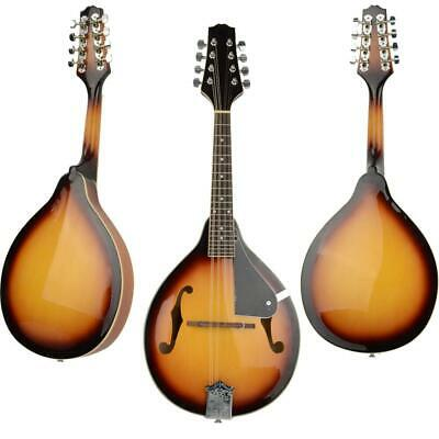 New A-Style Elegant Maple Wood Mandolin with Extra Strings Set