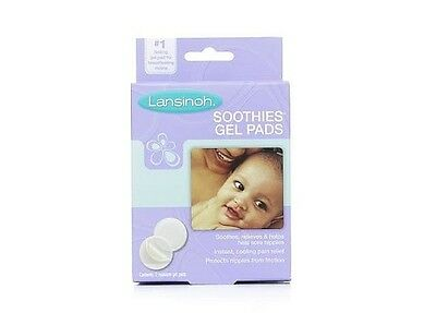 Lot of 2 LANSINOH SOOTHIES GEL PADS 2 RESUABLE GEL PADS SORE NIPPLES NEW IN BOX