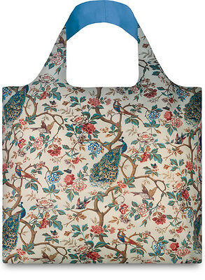 New LOQI Museum Art TOTE BAG Shopping Reusable PEACOCK PEONIES FLOWER FLORAL