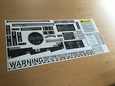 International Tractor warning stickers / decals