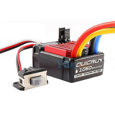 Hobbywing QuicRun 1060 60A Brushed ESC Electronic Speed Controller For RC Car