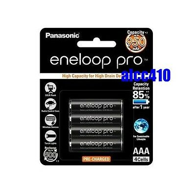 Panasonic Eneloop Pro 950mAh AAA Rechargeable Battery Precharge BK-4HCCE 4pcs